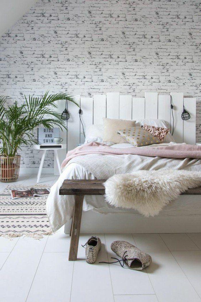 0 chambre a coucher pas cher ado mur en briques blanc chambre a coucher design blanc et rose pale