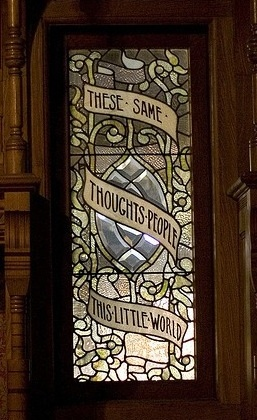 window from the Winchester Mansion contains a Shakespeare ...