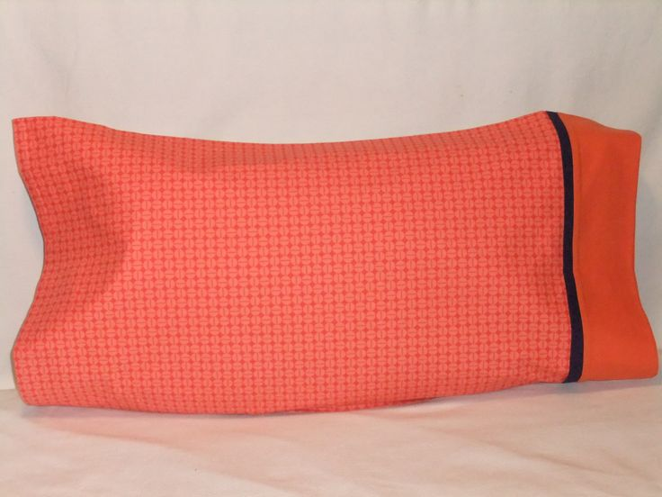 """POLKA DOTS in Orange PILLOWCASE - 20"""" x 35"""" by KatiesCOVERS on Etsy"""