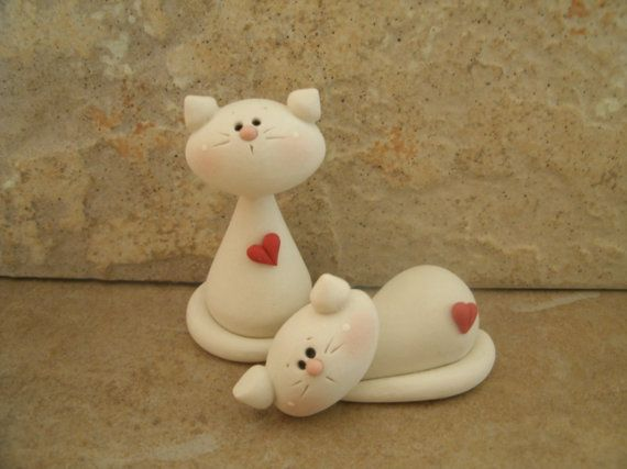 *POLYMER CLAY ~ Kitty Pair