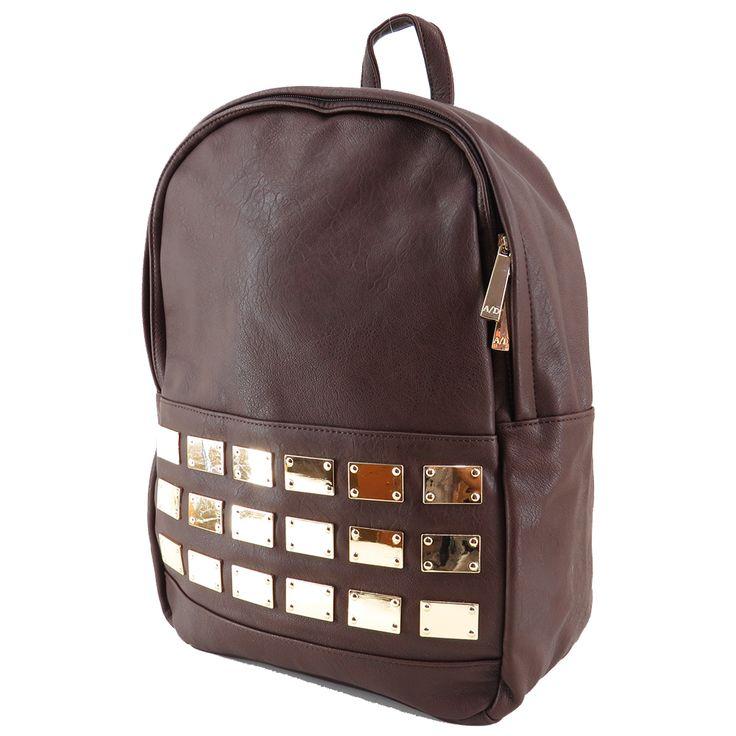 Mochila feminina de couro ecológico, mochila marrom. Para carregar notebook, cadernos, roupas e tudo o mais que você precisa para o dia a dia. http://lojadibella.com.br/d/103/Bolsa+Mochila  Mochila, mochila de couro, mochila feminina, loja dibella, bag, handbag, backpack, mochila diferente, mochila linda, mochila rock, comprar mochila, loja mochila, mochila academia, mochila rock, mochila rocker, mochila marrom.