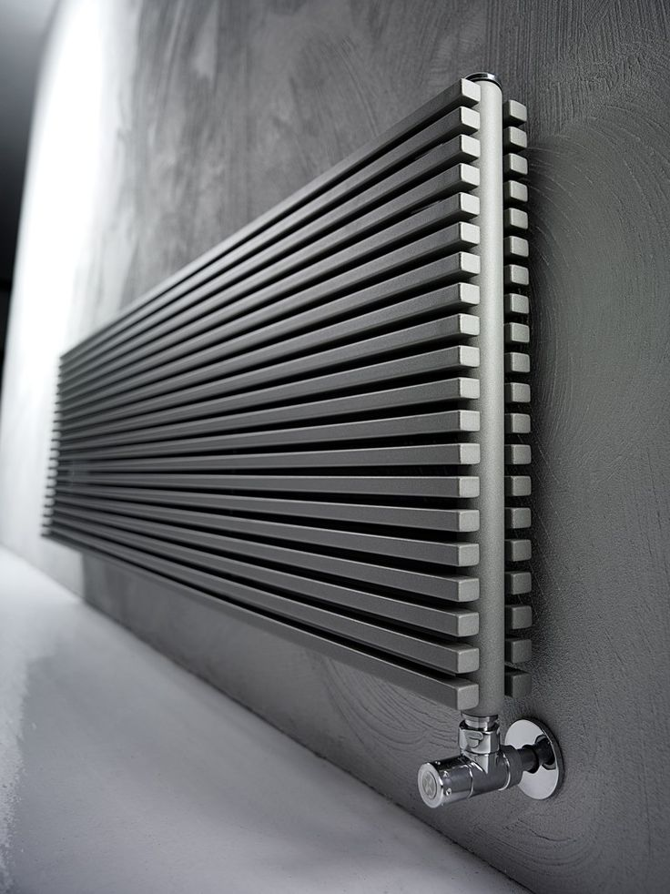 Wall-mounted carbon steel decorative radiator TRIM by @antraxit
