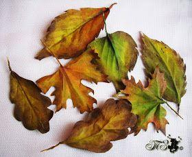 Сказки у камина...: Мини-МК «Осенние листья из ткани» (вариант 2)