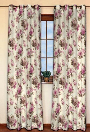 Zasłona na kółkach 1 szt. w kolekcji Mirella, tkanina: 141-07