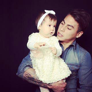 Edu y su hijita