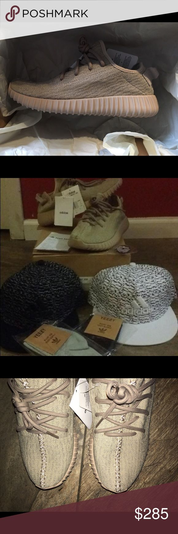 Bundle!! Oxford tan yeezys size 7-8!! Brand new never worn!! Everything is original. This is a bundle so a hat, a pair of socks, a keychain and the receipt will be given. Price is not firm so feel free to make offers. Feel free to message me if you have any questions. Adidas Shoes Athletic Shoes