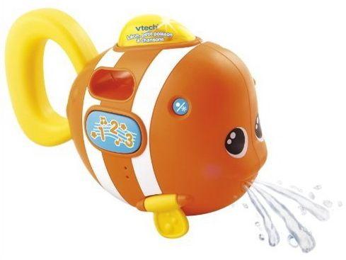 Léon petit poisson à chansons La nageoire dorsale lumineuse et le bouton 1-2-3 déclenchent des phrases, des mélodies et une chanson. 2 nageoires articulées.#renaudbray #bébé #jouet