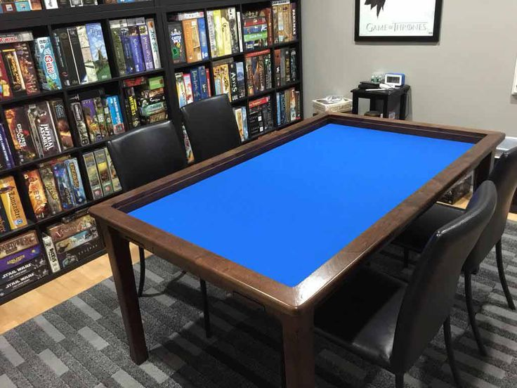 Custom Board Game Table Knotty Alder Wood Carrington