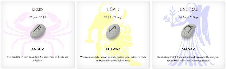 Runen Tageshoroskop 8.3.2017 #Sternzeichen #Runen #Horoskope #krebs #löwe #jungfrau
