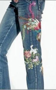 Мода на джинсы с крестом