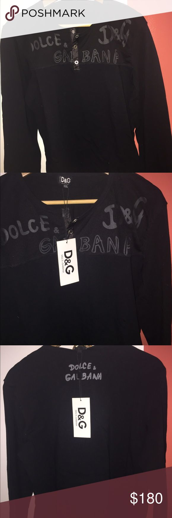 Dolce and gabbana men's shirt Brand new dolce and gabbana men's long sleeve shirt. Price reflects authenticity. Fits like XL Dolce & Gabbana Shirts Tees - Long Sleeve