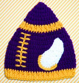 17+ best images about Crocheted Sports Theme Baby Hats on ...