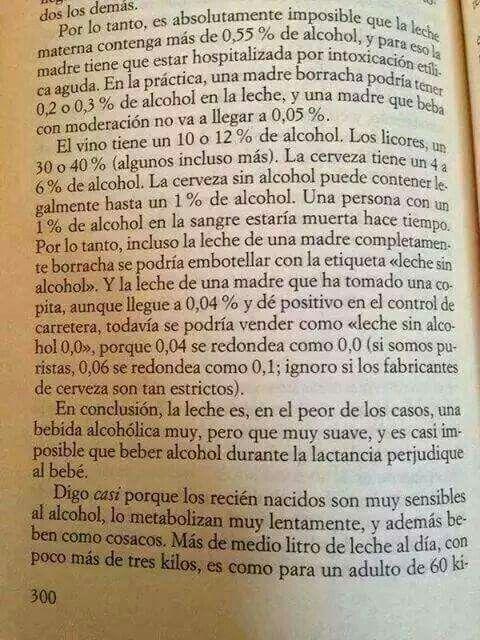 Se puede tomar alcohol cuando lactas?? Carlitos dice que si...
