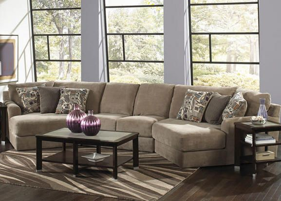 Malibu 3 Pc Reverse Sectional With Cuddler Chaise