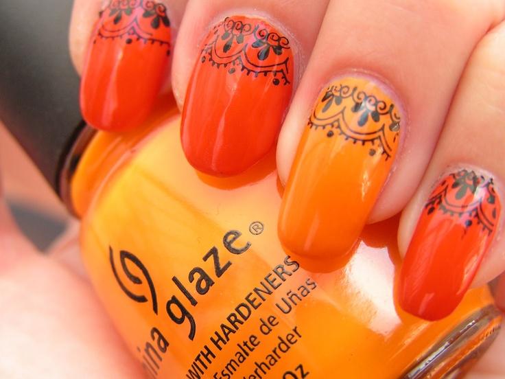 Bright Orange Summer Nail Art Design - Best 25+ Orange Nail Art Ideas On Pinterest Orange Nail, Spring