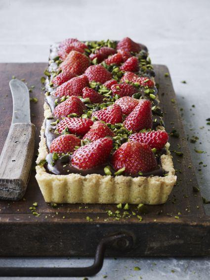 chokolade & jordbærtærte
