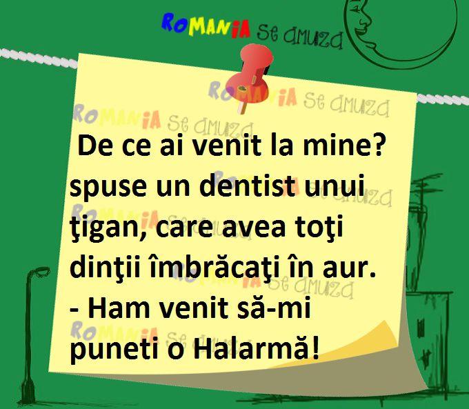 Un tigan cu dinti de aur merge la dentist