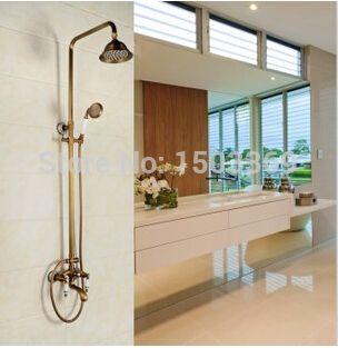 2015 Wholesale & Retail Anti-bronze Brass Water Pressure Boosting Bathroom Rain Shower Faucet Shower Mixer Tub Faucet Shower Set