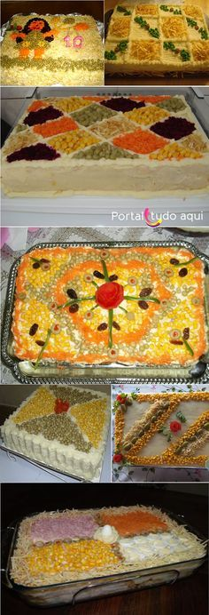 Torta salgada de pão de forma para festa