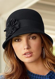 Flower Cloche Hat: All it takes is a charming hat to finish off an outfit in most fabulous style! With ribbon trim and chic accordion-folded flower detail.