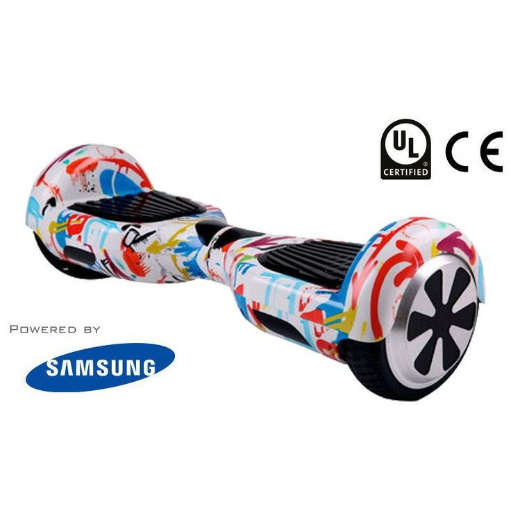 A medley of red, yellow and blue, this quirky graffiti-print hoverboard is a genuine segway, considered the best hoverboard by many thanks to its classic design.  https://hoverglide.uk/product/graffiti-6-5-pioneer-swegway-hoverboard-free-bluetooth/