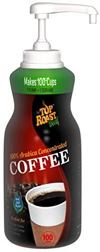 Top Roast Decaf Concentrated Cold Brew Coffee Shots | 15.2 Ounce Pump Bottle - 100 Servings