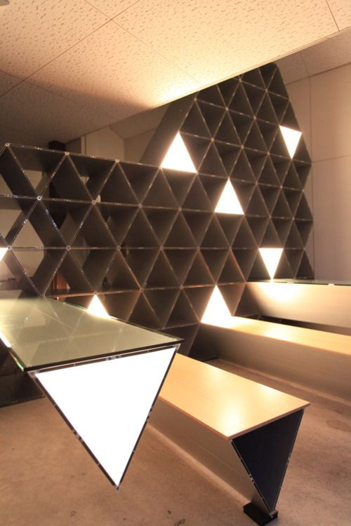 Kengo Kuma - Polygonium  cool idea for wine cellar