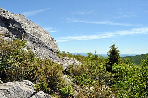 Grayson Highlands State Park has the best boulder fields available in Virginia, go bouldering, rent crash pads at the park office