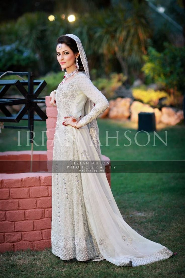53 white cream inspirational pakistani bridal outfits for Asian bridal wedding dresses