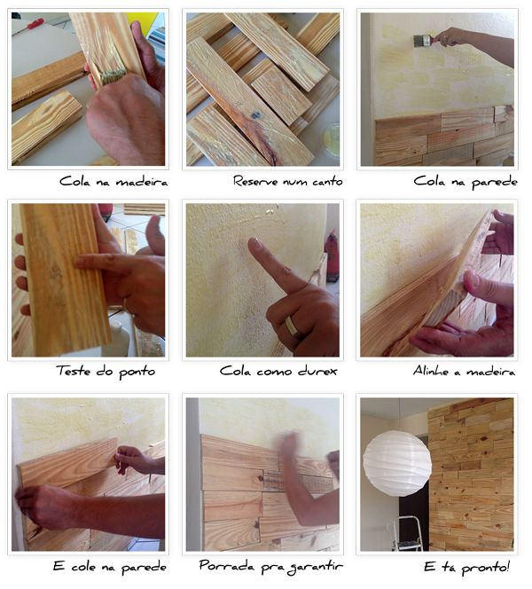 PASSO PASSO Revestindo uma parede com madeira   Faça você mesmo
