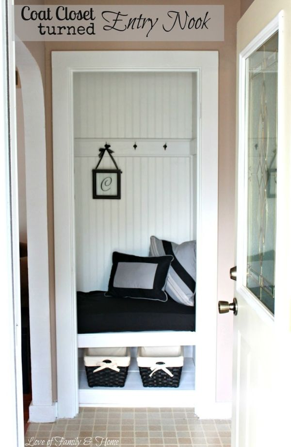 My Sisteru0027s New House U0026 A Coat Closet Turned Entry Nook.{Entry Makeover}    Love Of Family U0026 Home