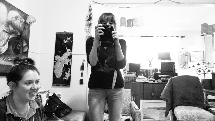 Leah as photographer, Katie as director