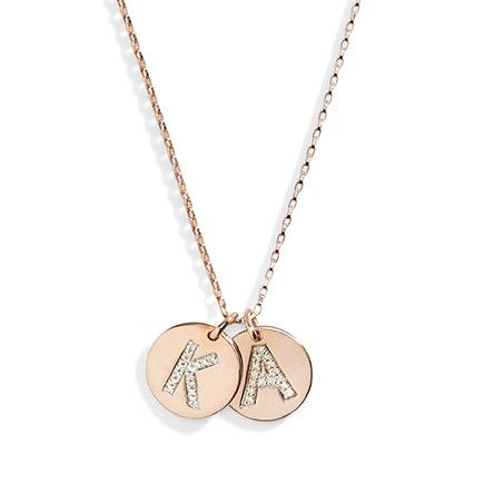 300 diamond initial necklace 14k gold necklace layering necklace diamonds short