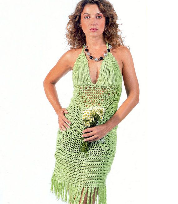 Crochet halterneck dress PATTERN crochet by FavoritePATTERNs, $8.75