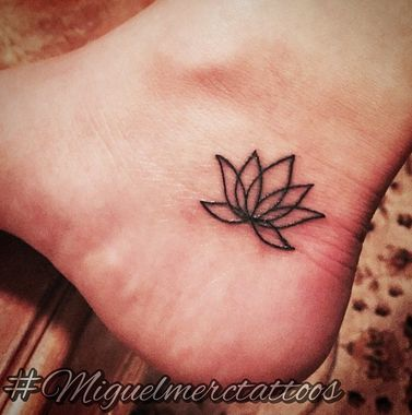 25 best ideas about simple lotus tattoo on pinterest simple lotus flower tattoo lotus tattoo - Small foot design ...