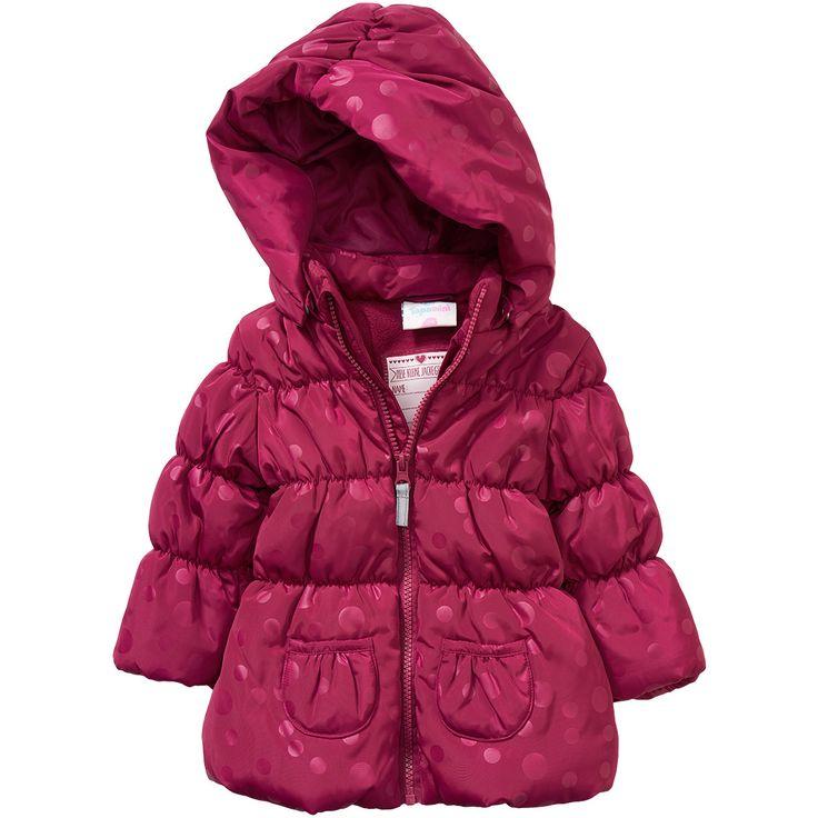 Baby Winterjacke mit abnehmbarer Kapuze #babymode #babyclothes #babygirl