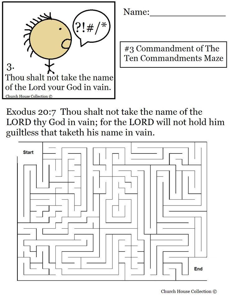 17 Best images about Ten Commandments