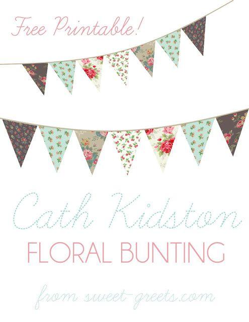 Just Peachy Designs Free Floral Bunting Printable