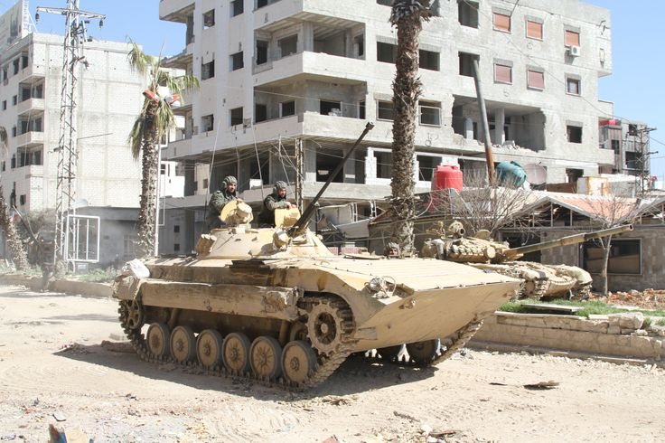 Syrian armored troop-carrier.
