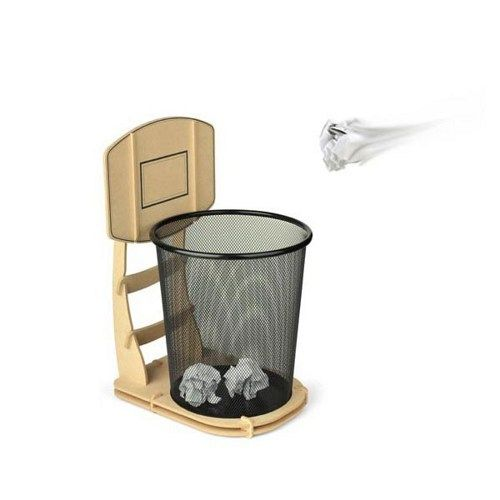Basketball trash can stand furniture pinterest shops other and business office decor - Basketball hoop garbage can ...