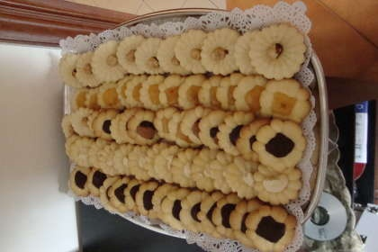 biscotti con la sparabiscotti ..............fantasticiiiiiiiiii