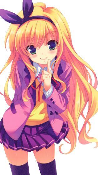 Fille manga cheveux jaune mangas pinterest manga - Image de manga fille ...