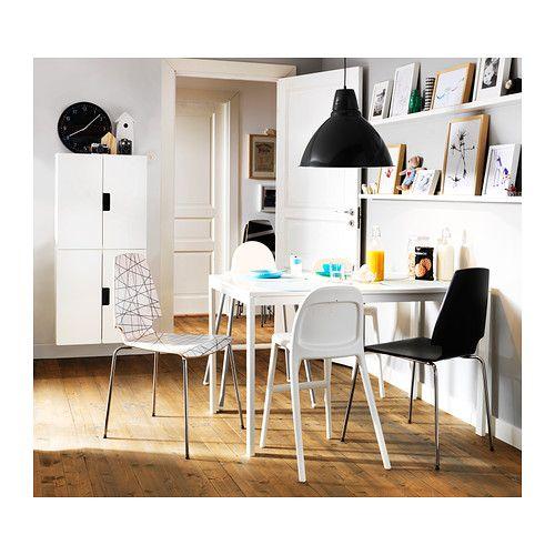 MELLTORP Tafel IKEA Het tafelblad is overtrokken met melamine; voor een vocht- en krasbestendig oppervlak dat makkelijk schoon te houden is.
