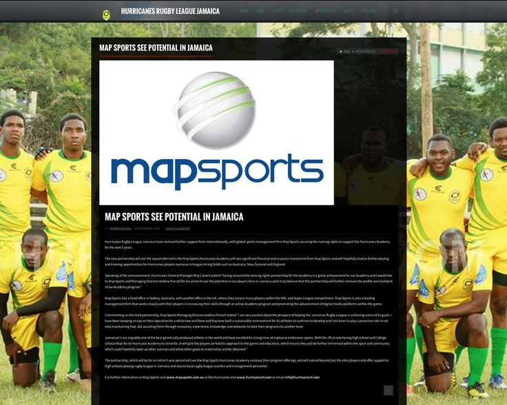 Map Sports align with Jamaican Rugby League:  Hurricanes Rugby League Jamaica have received further support from internationally, with global sports management firm Map Sports securing the naming rights to support the Hurricanes Academy for the next 5 years.