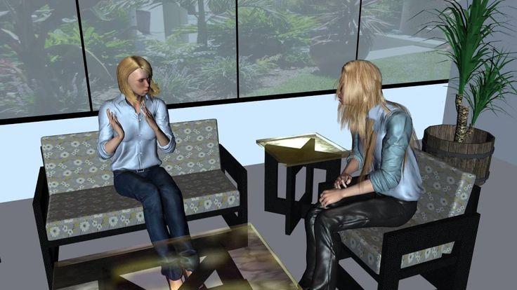 спор двух блондинок, анимация 3d, HD, видео, высокое качество
