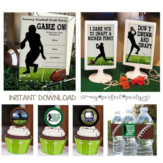 Fantasy Football Draft Printable Party by MyPerfectPartyStudio