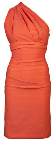 Preen Orange Plaza Dress