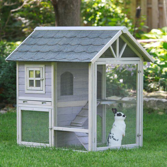 Boomer & George Tiered Outdoor Rabbit Hutch With Run
