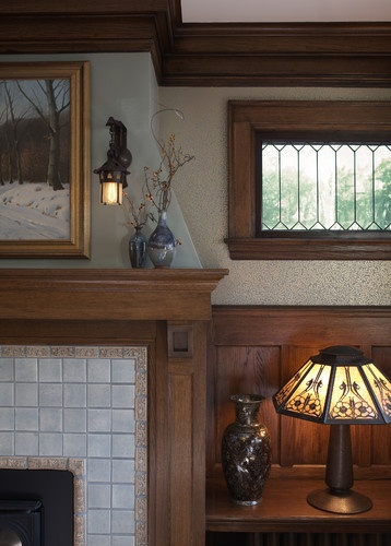 341 best images about craftsman style homes on pinterest for Bungalow fireplace ideas