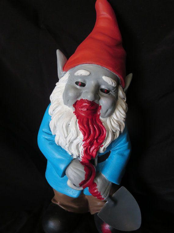 Zombie Garden Gnome Halloween Bloody